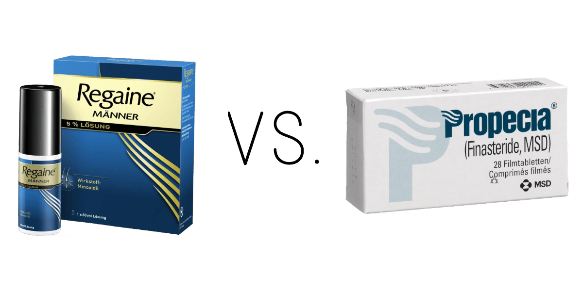 Regaine Minoxidil vs Propecia Finasterid bei Haarausfall