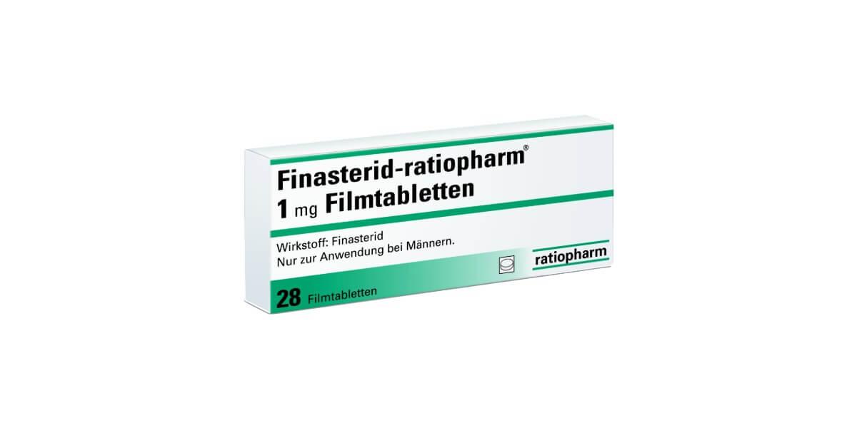 Finasterid Ratiopharm 1 mg Filmtabletten gegen Haarausfall