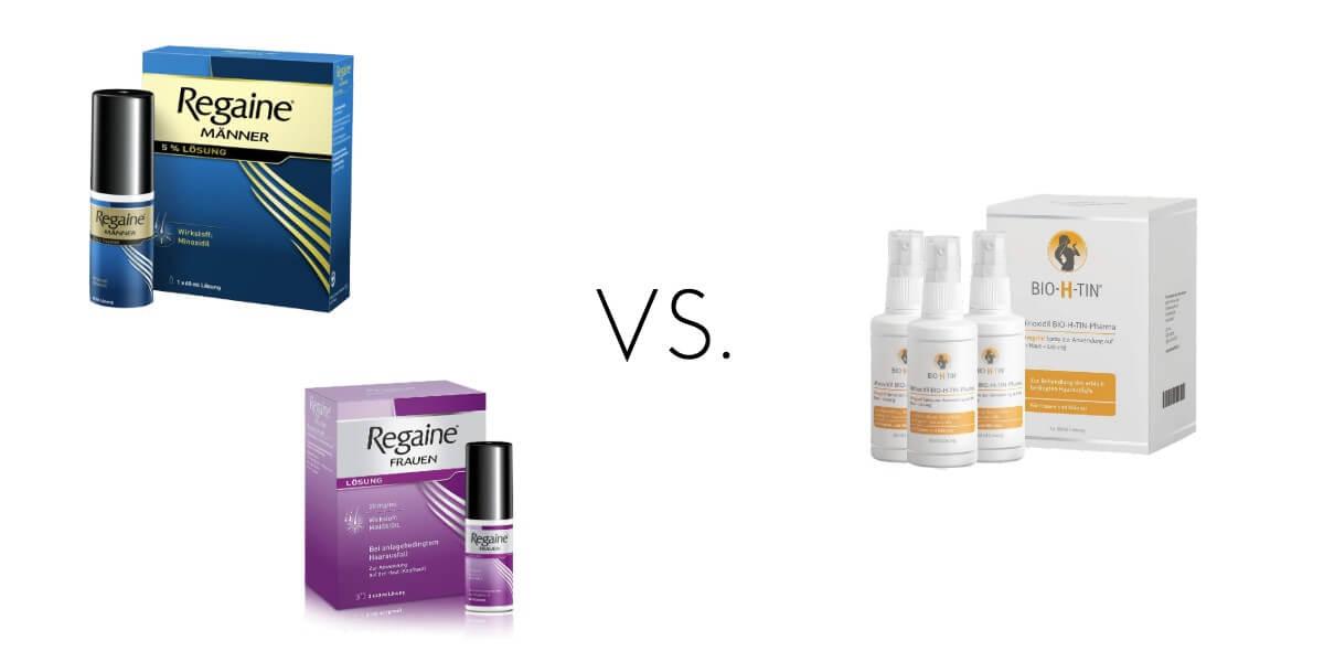 Regaine oder Bio-H-Tin Minoxidil bei Haarausfall
